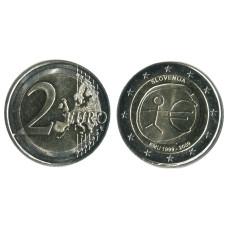 2 Евро Словении 2009 Г., 10 Лет Экономическому и Валютному Союзу