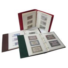 Коллекционный альбом в 3-х томах для бон периода с 1915 - 2015 гг. с изображением банкнот и холдерам