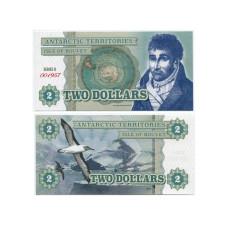 Сувенирная банкнота Антарктики 2 доллара Альбатрос (пресс)