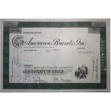 """Ценная бумага """"American Brands, One"""". 50 акций США 1973 г. (V079661, VF, гашёная)"""