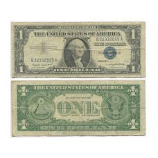 1 доллар США 1957 г. (двор A, Q 32332055 A, VG)