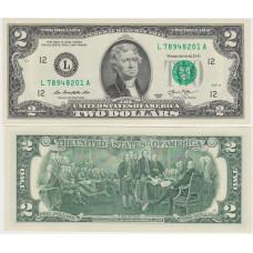 2 доллара США 2013 г. L