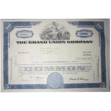 """Ценная бумага """"The Grand Union Company"""". Сертификат на 100 акций США, 1971 г. (С294411, XF)"""