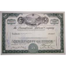 "Ценная бумага ""The Pennsylvania Railroad Company, 100 акций"". США, 1965 г. (XF, T 300173)"