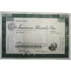 """Ценная бумага """"American Brands, One"""". 25 акций США 1976 г. (V0131645, VF, гашёная)"""