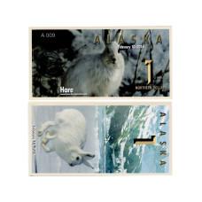 Сувенирная банкнота банка Аляска 1 северный доллар 2016 г. , заяц (пресс)