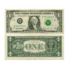 1 доллар США 1995 двор B (B 70142104 S)
