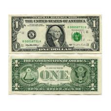 1 доллар США 1995 г. двор K (K 00058731 H)