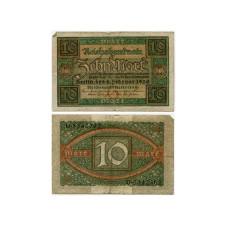 10 марок Германии 06.02.1920 г. (F)