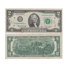 2 доллара США 1976 г. двор H