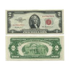 2 доллара США 1953 г. ( A 47524352 А) серия А