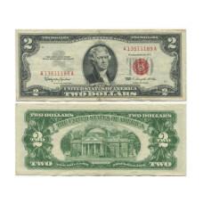 2 доллара США 1963 г. без буквы