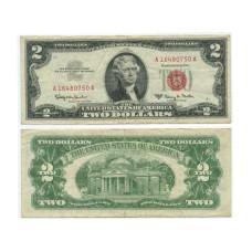 2 доллара США 1963 г. А16480750А серия А