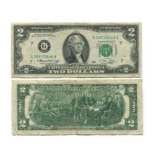 2 доллара США 1976 г. двор G