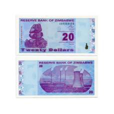 20 долларов Зимбабве 2009 г.