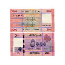 5000 ливров Ливана 2014 г.
