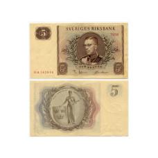 5 крон Швеции 1956 г.