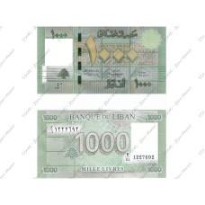 1000 ливров Ливана 2011 г.