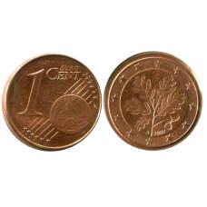 1 евроцент Германии 2007 г. (A)