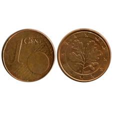 1 евроцент Германии 2007 г. (F)