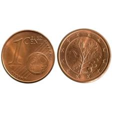 1 евроцент Германии 2007 г. (J)