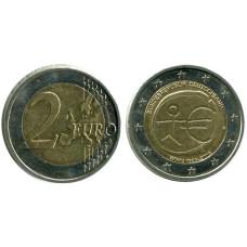 2 евро Германии 2009 г. 10 лет экономическому и валютному союзу (F)