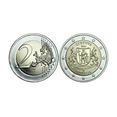 Памятная монета 2 евро Литвы 2021 г. Литовские этнографические регионы  - Дзукия