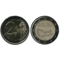 2 Евро Финляндии 2017 Г., 100 Лет Независимости Финляндии