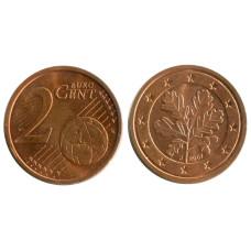 2 евроцента Германии 2007 г. (J)