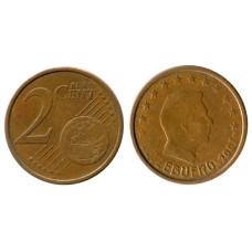 2 евроцента Люксембурга 2007 г.