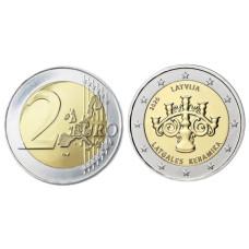 2 евро Латвии 2020 г. Латгальская керамика