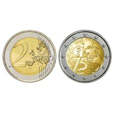 2 евро Франции 2021 г. 75 лет основания Юнисеф