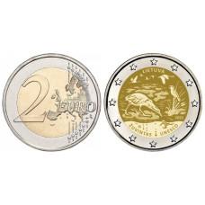 2 евро Литвы 2021 г. Биосферный резерват Жувинтас