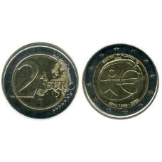 2 евро Финляндии 2009 г. 10 лет экономическому и валютному союзу