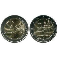 2 евро Германии 2021 г. Саксония-Анхальт, Магдебургский собор (D)