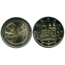 2 евро Германии 2021 г. Саксония-Анхальт, Магдебургский собор (G)