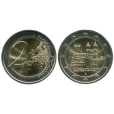 2 евро Германии 2021 г. Саксония-Анхальт, Магдебургский собор (J)
