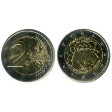 2 евро Германии 2007 г. 50 Лет Подписания Римского Договора A