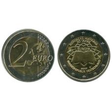 2 евро Германии 2007 г. 50 Лет Подписания Римского Договора F