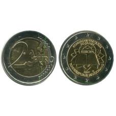 2 евро Германии 2007 г. 50 Лет Подписания Римского Договора G