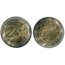 2 евро Германии 2007 г. 50 Лет Подписания Римского Договора J