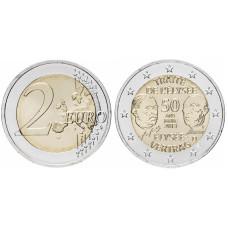 2 евро Германии 2013 г., 50 лет подписания Елисейского договора (F)