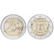 2 евро Германии 2013 г., 50 лет подписания Елисейского договора (G)