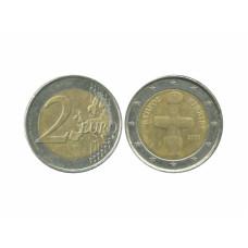 2 евро Кипра 2009 г. 10 лет экономическому и валютному союзу