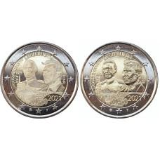 2 евро Люксембурга 2021 г. 100-летие со дня рождения великого герцога Жана (2шт)