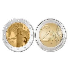 2 евро Испании 2021 г. Исторический город Толедо
