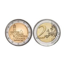 2 евро Португалии 2020 г. 730 лет университету Коимбры