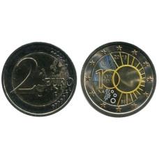2 Евро Бельгии 2013 Г., 100 Лет Королевскому Метрологическому Институту цветная