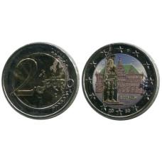 2 евро Германии 2010 г., Городская ратуша и Роланд, Бремен (цветная)