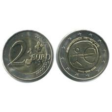 2 евро Германии 2009 г. 10 лет экономическому и валютному союзу (J)